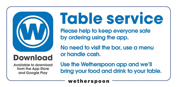 Wetherspoon shows how its pubs will look and work when they reopen