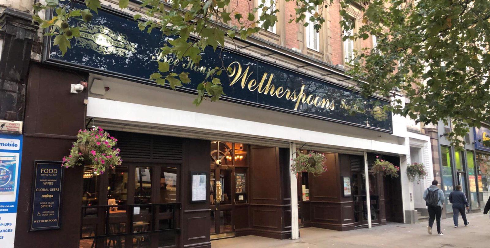 Wetherspoons | Pubs In Manchester - J D Wetherspoon